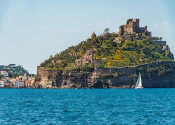 Ischia, Castle, view from the sea