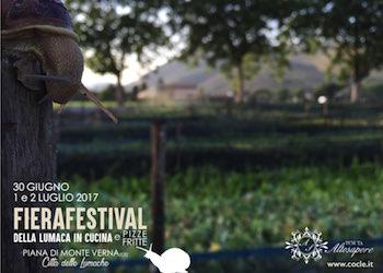 Weekend con il FieraFestival della Lumaca in cucina, appuntamento da stasera a Piana di Monte Verna