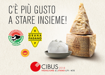Mozzarella Dop pronta ad invadere Parma al Cibus