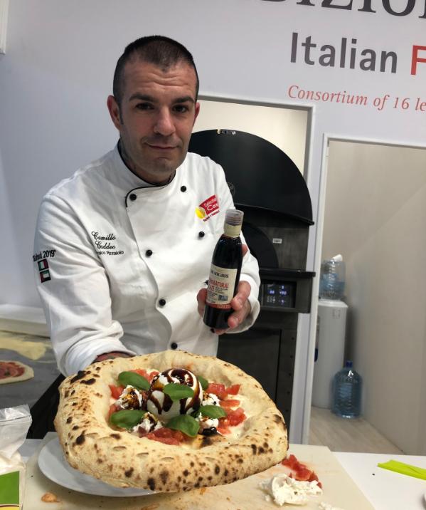 Aceto balsamico e Pizza, De Nigris a Gulfood