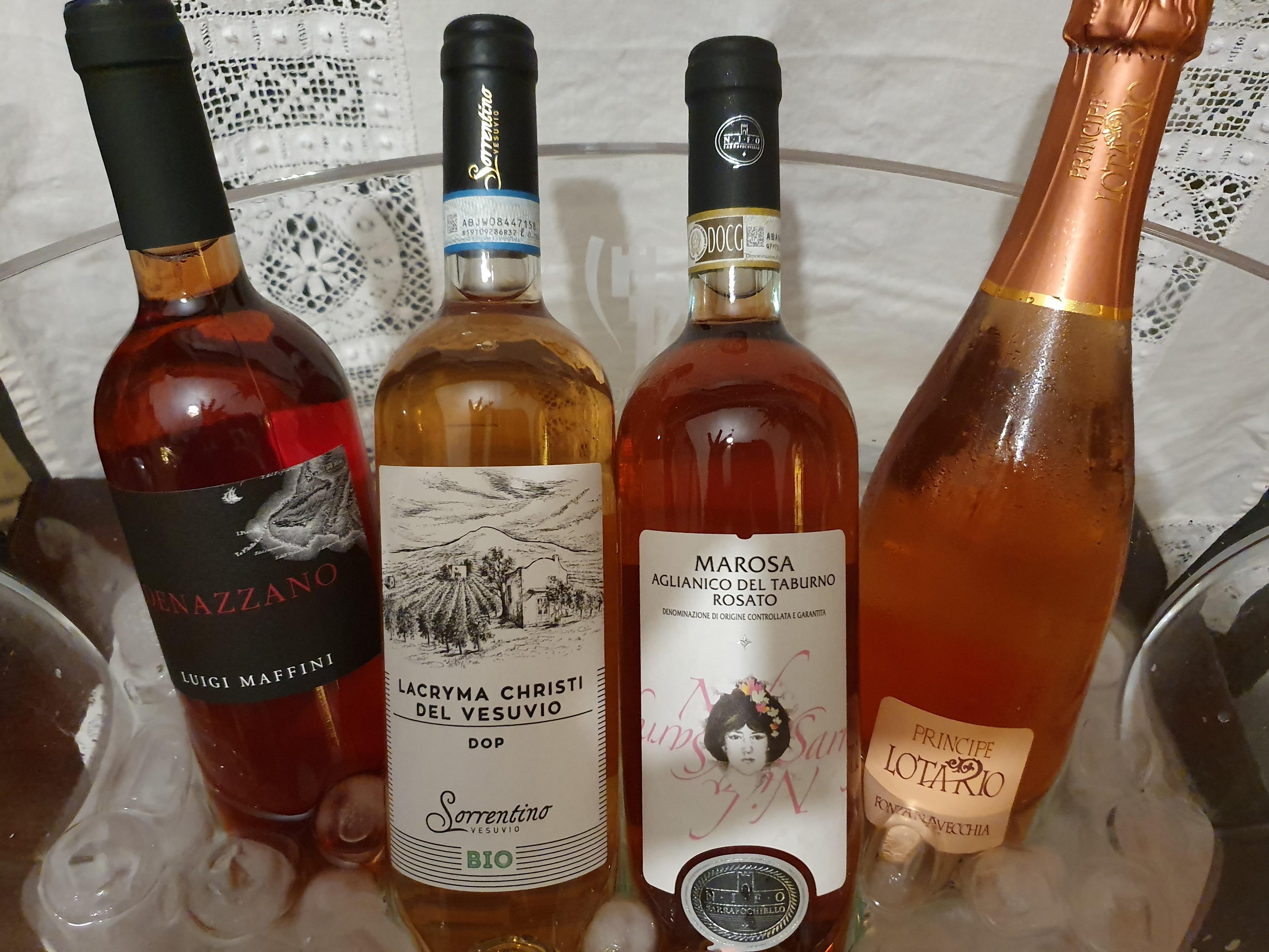 I Rosati di Slow Wine in una cena al Cellaio di Don Gennaro
