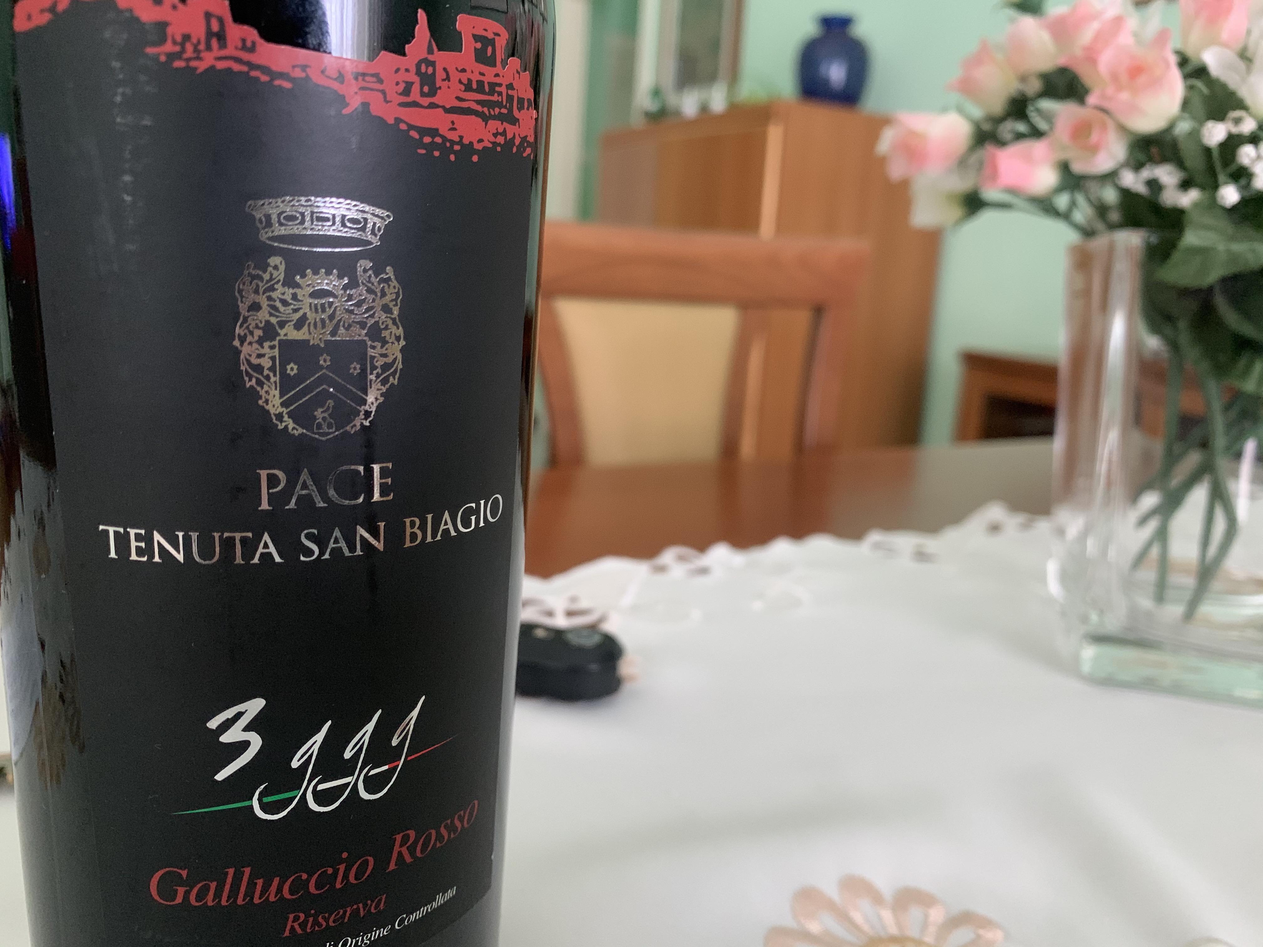 Degustazioni #Iorestoacasa, 3 ggg  Galluccio Rosso Riserva Doc 2012 Pace Tenuta San Biagio