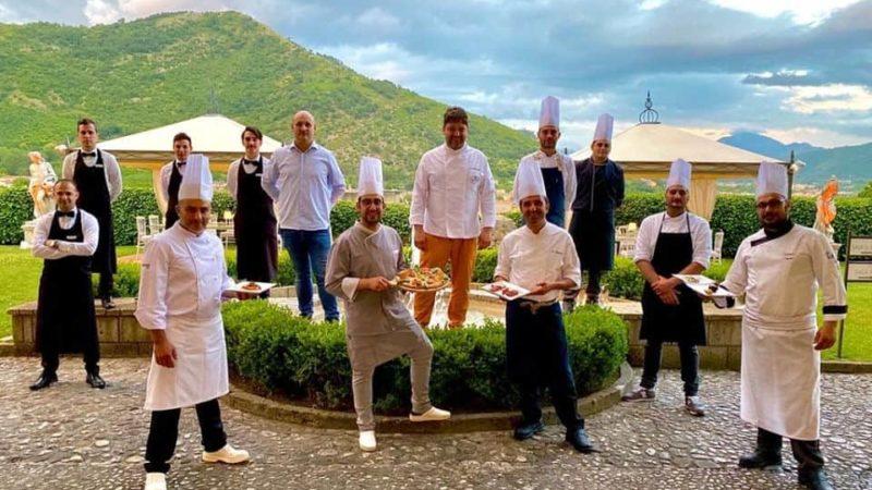 """A Villa Soglia Pizza e Champagne con """" Gli dei della pizza"""""""