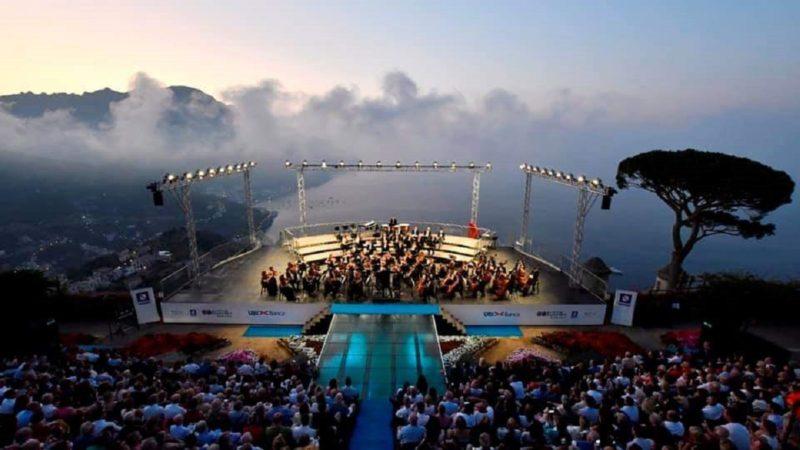 Il concerto all'alba a Ravello è con Mozzarella di Bufala Campana  Dop