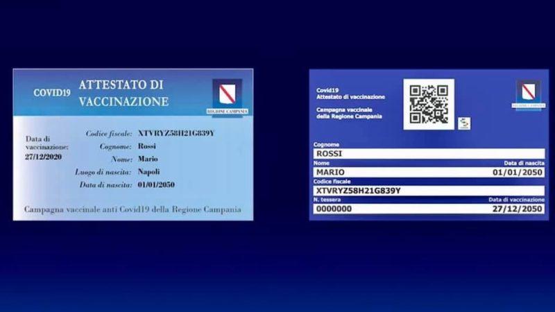 Campania in Giallo, Tessera Vaccini opportunità promozionale food, turismo  ed eventi