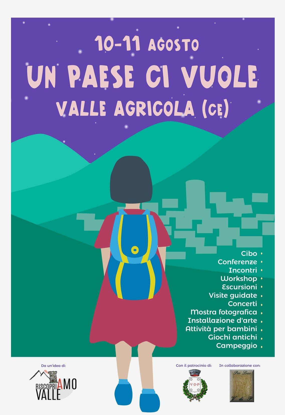 """A Valle Agricola per """" Un paese ci vuole"""".Tante attività per scoprire uno stile di vita"""