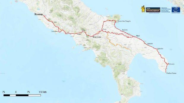 Arrivano in Campania i camminatori della Via Francigena di Road to Rome 2021