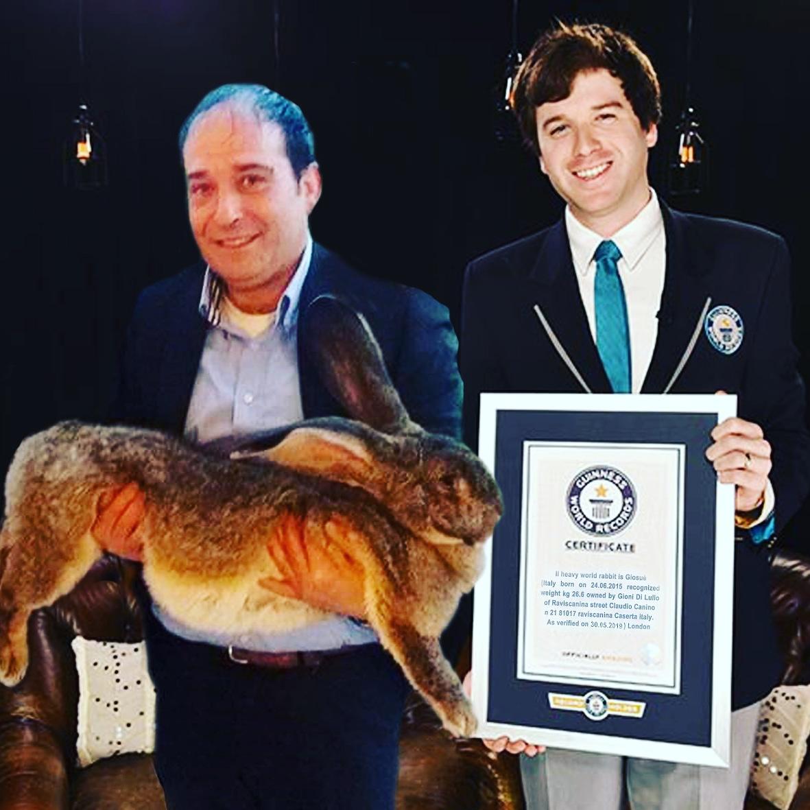 Su RaiUno da Raviscanina Gioni di Lullo e il coniglio più grande del mondo