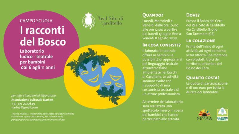 I Racconti del Bosco, Camposcuola bimbi a Carditello con Nartea e la merenda Coldiretti
