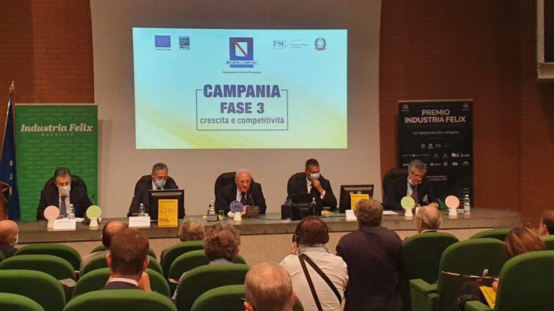 Iasa tra le aziende big della Campania, il premio in Regione