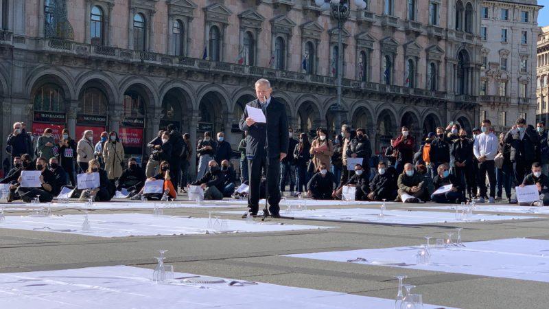 Manifestazione Ristoratori Fipe:  bene decreto ristori ora tempi veloci.