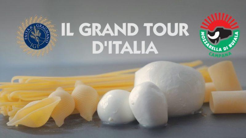 Grand Tour d'Italia di Mozzarella dop e Pasta di Gragnano Igp
