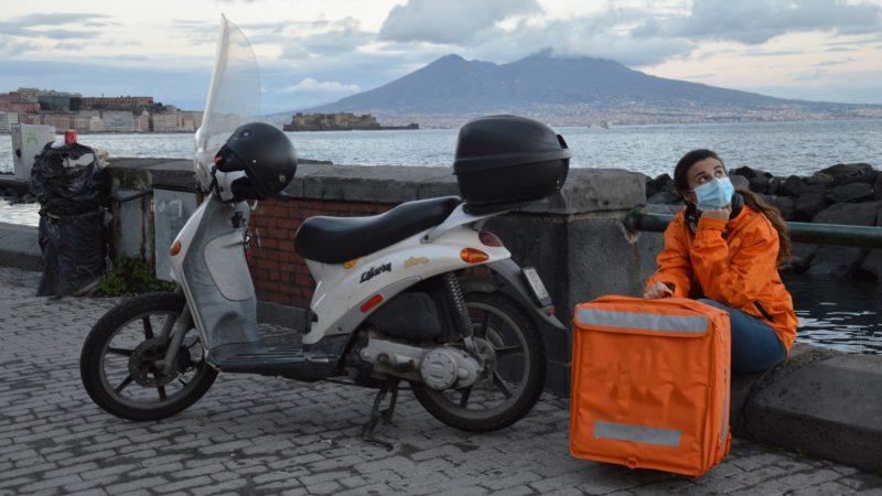 Una casa dei Rider e azioni di tutela  da Inail, Cgil, Napoli Pedala