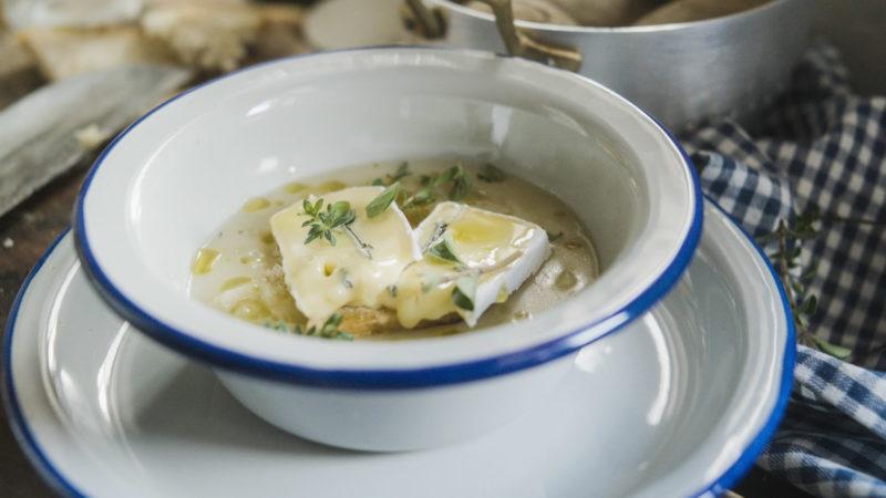 La patata in cucina, una zuppa con Erborinato Bavaria Blu Dolce