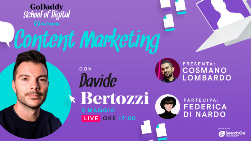 Formazione nel Content Marketing con la School of Digital di GoDaddy